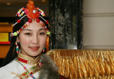 Tibetan girl Royalty Free Stock Photo