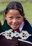 Tibetan girl in Dolpo, Nepal Stock Photography