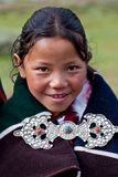 Tibetan girl in Dolpo, Nepal Royalty Free Stock Images