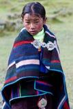 Tibetan girl in Dolpo, Nepal Royalty Free Stock Image