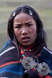 Tibetan girl in Dolpo, Nepal Stock Images