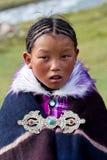 Tibetan girl in Dolpo, Nepal Royalty Free Stock Photography