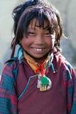 Tibetan girl, Nepal Royalty Free Stock Photos