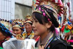 Tibetan girl at Ongkor festival Stock Photos