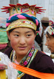 Tibetan girl at Ongkor festival Stock Images