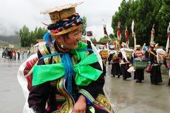 Tibetan girl at Ongkor festival Stock Images