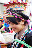 Tibetan girl at Ongkor festival Royalty Free Stock Image