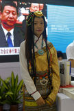 Tibetan girl participate in the exhibition Stock Image