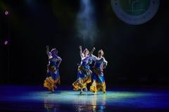 Tibetan girl Zhuoma-The national folk dance Royalty Free Stock Photo