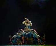 Tibetan girl Zhuoma-The national folk dance Royalty Free Stock Photography