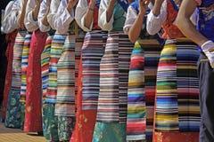 Tibetan girls playing flutes Royalty Free Stock Photography
