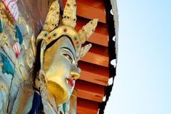 Tibetan Goddess. Statue in Gansu province in China Royalty Free Stock Photography