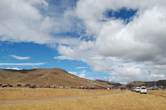 tibetan grassland festival Royalty Free Stock Photography