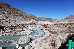 Tibetan grens Stock Fotografie