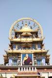 Tibetan guld- tempel Coorg Fotografering för Bildbyråer