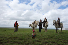 Tibetan herders Stock Photo