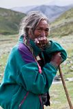 Tibetan herdsman Royalty Free Stock Photo