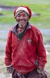 Tibetan herdsman. TSAKANG, NEPAL - SEPTEMBER 04: Tibetan herdsman from the village of Tibetan refugees on September 04, 2011 in Tsakang, Upper Dolpo district Stock Photography