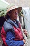 Tibetan herdsman Stock Image