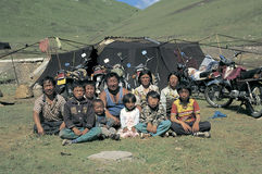 Tibetan herdsman Royalty Free Stock Photography
