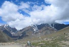 Tibetan Himalayas in India. Mountain peaks in the Tibetan Himalayas, India Royalty Free Stock Image