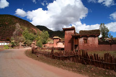 Tibetan home Stock Images