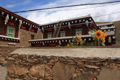Tibetan house Stock Image