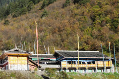 Tibetan house Stock Photo