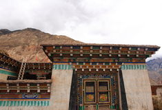 Tibetan house Stock Photo