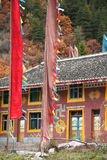 Tibetan Houses. In a village in Sichuan Royalty Free Stock Photo