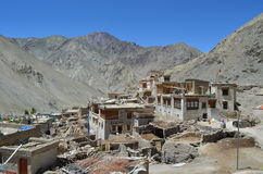 Tibetan Houses In Himalayas Range India Stock Images
