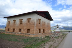 Tibetan houses near Shangri-la Stock Photos