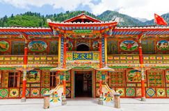 Tibetan houses Royalty Free Stock Photography