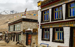 Tibetan houses in the village Royalty Free Stock Image