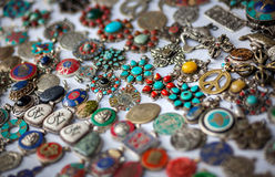 Tibetan jewelry shop Royalty Free Stock Photo