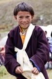 Tibetan jongen Stock Foto