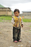 Tibetan kid portrait Stock Photo