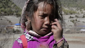 Tibetan kind stock videobeelden