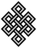 Tibetan knot symbol. Tibetan eternity knot ancient mystic religious symbol Royalty Free Stock Photography