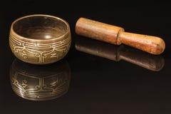 Tibetan kom Stock Afbeelding