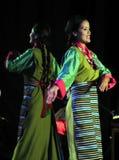 Tibetan kvinnadans Arkivbilder