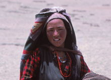 Tibetan Lady, Tibet, Asia Royalty Free Stock Photography