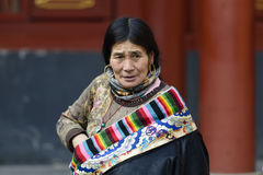 Tibetan Lady Stock Photography