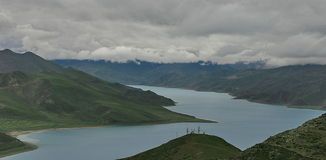 Tibetan lake Stock Photos