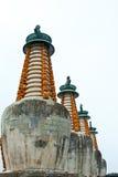 Tibetan lamapagode binnen van een oude tempel, Chengde, Berg R Stock Afbeelding
