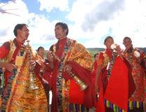 Tibetan lamas Stock Photography