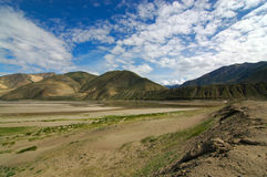 Tibetan Landscape. A dried up lake in Tibet Stock Photography