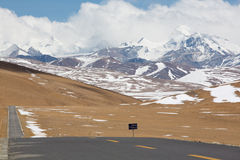 Tibetan landscape on the Friendshiip Highway in Tibet Stock Photos
