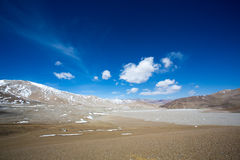 Tibetan landscape on the Friendship Highway in Tibet Stock Images