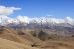 Tibetan landscape. View on Tibetan part of Himalayas Royalty Free Stock Photography
